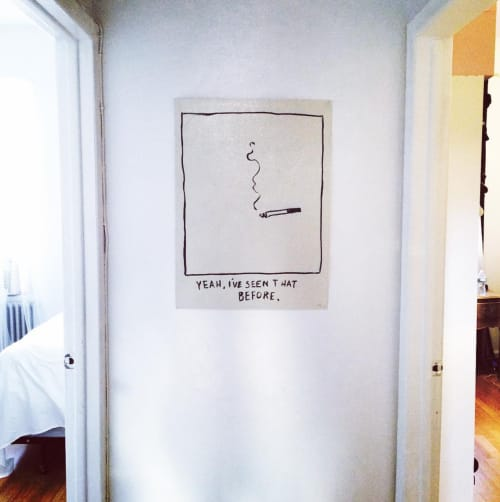 "Paintings by RF. Alvarez at Private Residence, Brooklyn - ""Yeah, I've Seen That Before."""