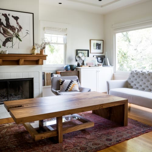Tables by Evan Shively and Arborica at Private Residence, San Francisco - Custom Elm Coffee Table