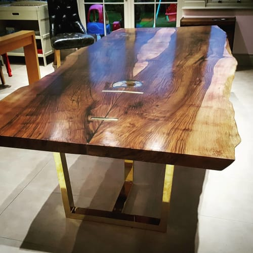 Tables by Handmade in Brighton seen at Private Residence, Colchester - English Walnut Live-Edge Dining Table