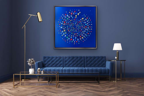 Art & Wall Decor by Lorna Doyan seen at Private Residence, Manchester - Into The Deep - butterfly art