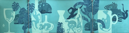 Murals by Daren Lin 大任物 seen at Our Wicked Lady, Brooklyn - Tropical Hangover