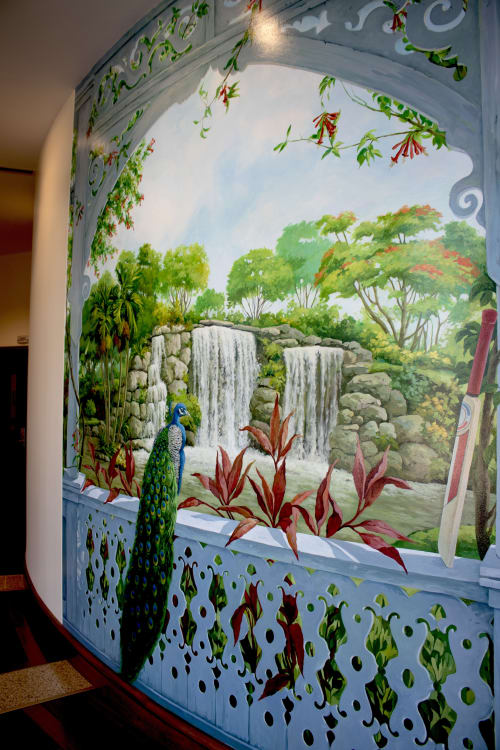 """Murals by Murals by Georgeta (Fondos) seen at Lauderhill, Lauderhill - """"Lauderhill Story Mural"""""""