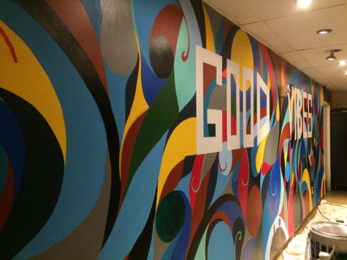 Murals by Tyson King seen at Andaz San Diego, San Diego - The Good Vibes Mural