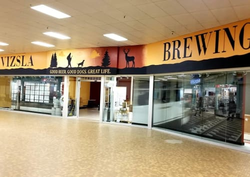 Murals by Madison Ruff seen at Havre, Havre - Vizsla Brewing