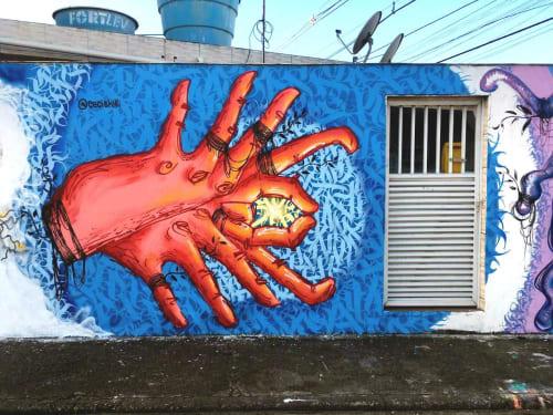 Murals by Ceci Shiki seen at State of Espírito Santo - (Im)possible Dance?