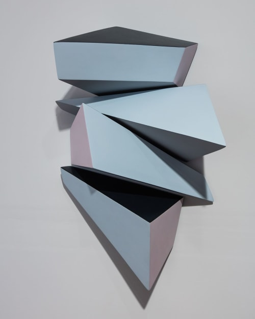 Sculptures by Dameon Lester seen at grayDUCK Gallery, Austin - Calving Sequences (a-d): Blue