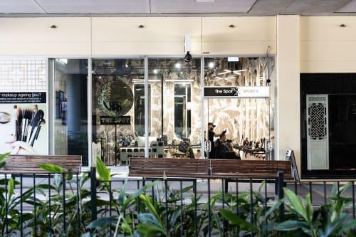 Interior Design by Studio Hiyaku seen at Macarthur Square, Campbelltown - The Spot Barbershop