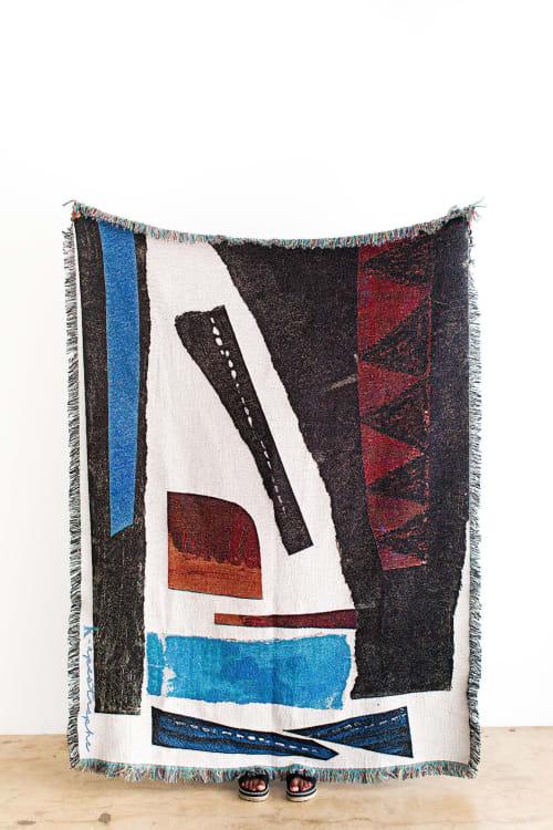 "Linens & Bedding by K'era Morgan seen at Creator's Studio, Los Angeles - ""Esther"" Woven Throw"