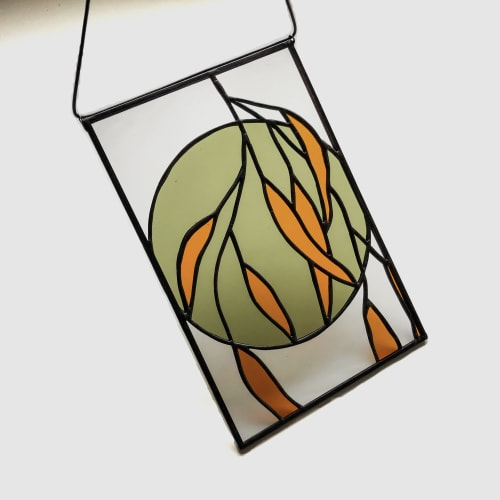 Wall Hangings by Glass Beat seen at Creator's Studio, Amsterdam - Botanical Stained Glass