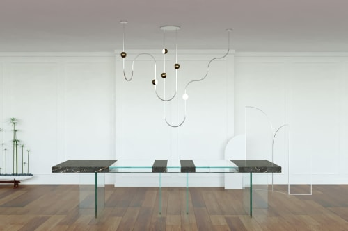Chandeliers by Ovature Studios seen at Private Residence, Milan - Dia Chandelier Config 3
