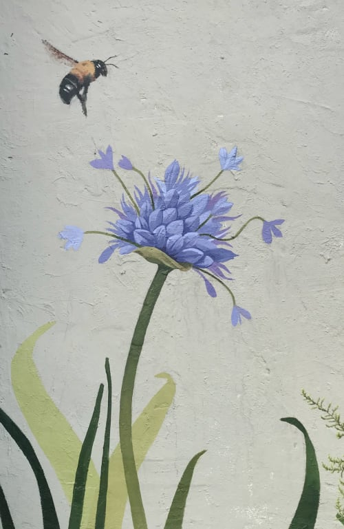 Street Murals by Susan Melrath seen at Oxford, Oxford - Partial Floral Mural