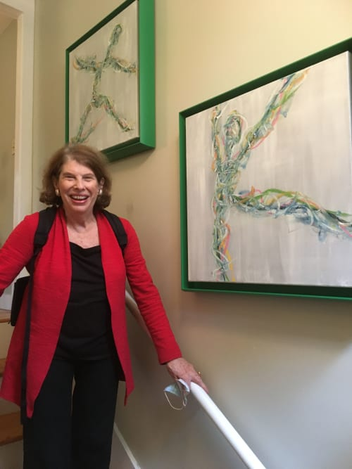 Paintings by Kate Wilson Fine Art seen at Private Residence, Cambridge - Celebration