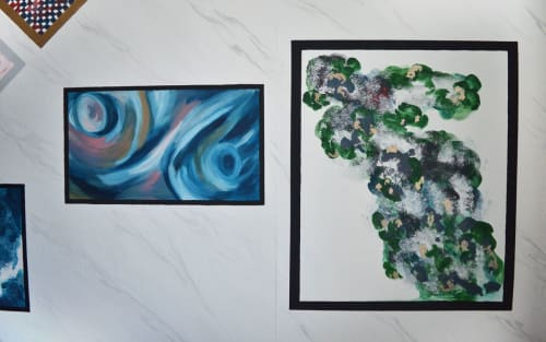 Murals by Perveen Kaur seen at Private Residence, London - Abstract Frames