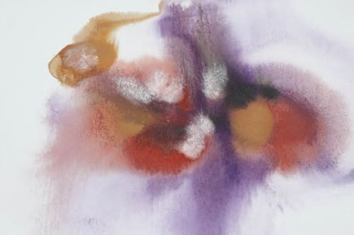 Paintings by Irena Orlov seen at Private Residence / Los Angeles, CA, Los Angeles - Purple Red Watercolor Abstract Splash