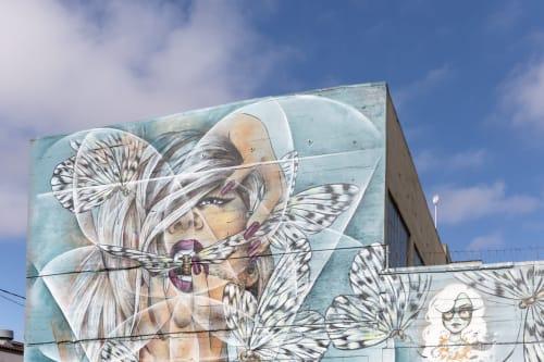 Street Murals by Amandalynn seen at 69 Duboce Avenue, SF, San Francisco - Breathe