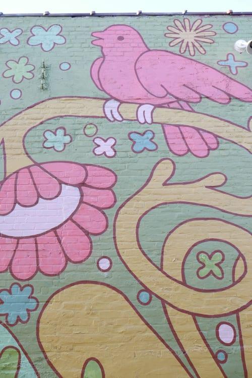 Bend but don't Break   Street Murals by Kyle Knapp   934 Gallery in Columbus