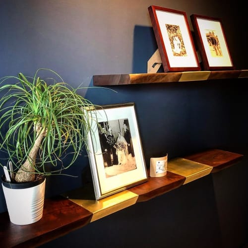 Furniture by Garage Goods seen at Private Residence, Seattle - Floating Shelves