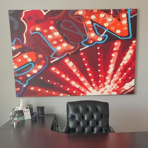 """Paintings by Jerry Misko seen at Signature Real Estate Group, Las Vegas - """"Apple a Day"""""""