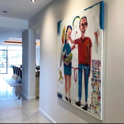 Paintings by Luciano Suárez seen at Private Residence, Gold Coast - Family Painting