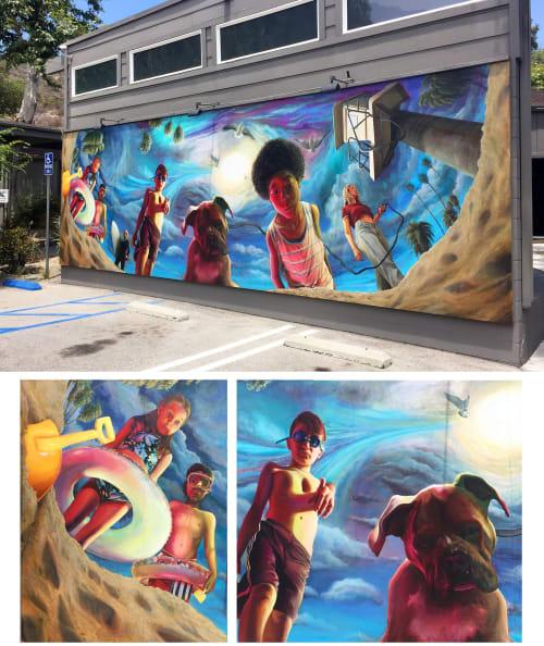 Street Murals by Timothy Robert Smith seen at Laguna Beach, Laguna Beach - Mural 2
