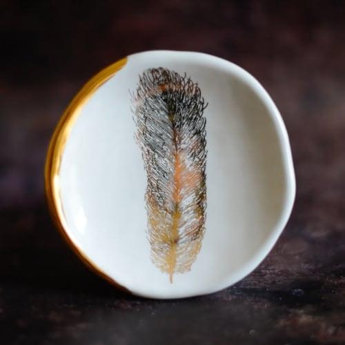 "Tableware by DANUceramics seen at OPTICA DUBLIN, Dublin 2 - ""White Feather Ring Dish"""