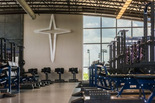 Sculptures by Carlyn Ray Designs seen at Jesuit Dallas, Dallas - Jesuit Cross
