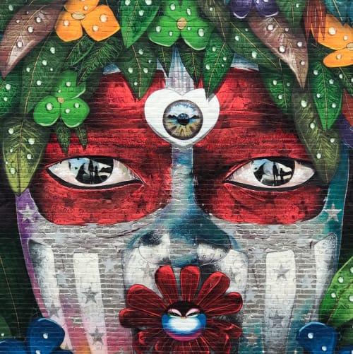 Murals by Chor Boogie seen at Salem, Salem - Lovechild