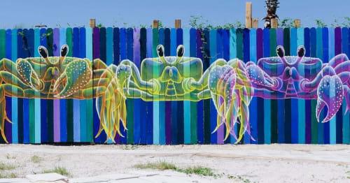 Murals by Daniela de Castro Sucre seen at Pensacola Beach, Pensacola Beach - Ghost Crabs Mural
