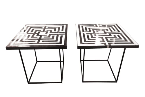 Tables by Ercole seen at London Terrace Gardens, New York - Labyrinth Coffee Tables