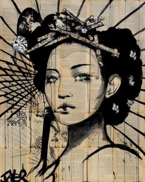 Paintings by Loui Jover Art seen at Hotel Kabuki, San Francisco - Lotus