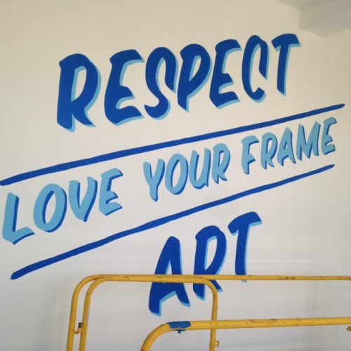 Murals by Lindsey Millikan (Milli) seen at 465 Hayes St, San Francisco - Respect Art, Love Your Frame