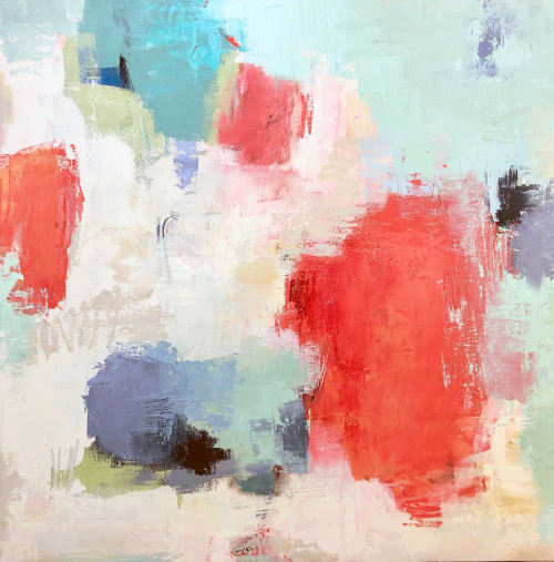 Paintings by Suzie Buchholz seen at Sue Greenwood Fine Art, Laguna Beach - French Kiss