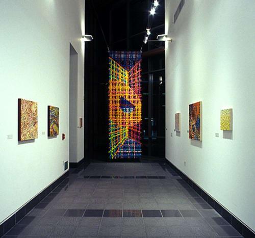 Paintings by Stevie Love seen at California State University San Bernardino, San Bernardino - Big Plaid