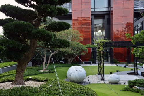 Public Sculptures by Atelier Sibylle Pasche seen at OneParkTaipei元利信義聯勤 - Rising Stars (2015)