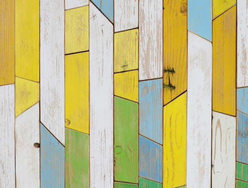 Murals by Chad Kouri seen at BaseCamp Llc, Chicago - Hand Cut Reclaimed Wood Mural