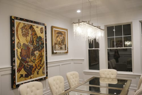 Paintings by Andrei Protsouk seen at Private Residence, Philadelphia - Party Animals, Oysters