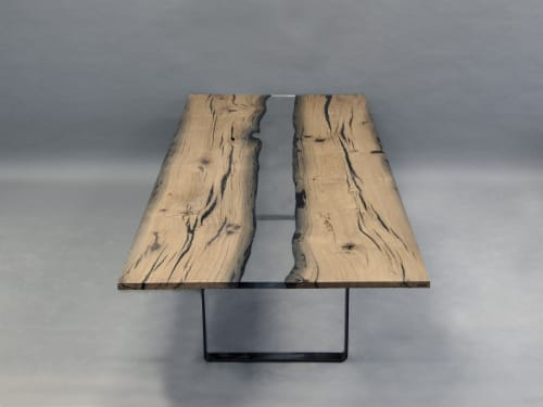 Tables by alcarol seen at Private Residence, Chelsea - Wetland River Table