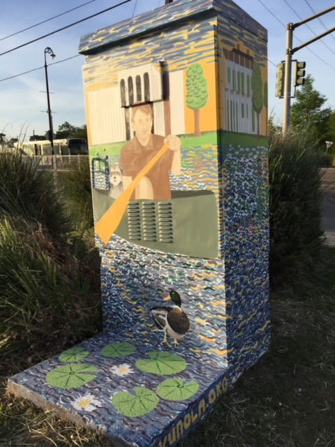 Street Murals by Art Gumbo seen at The Esplanade at City Park, New Orleans - Esplanade @ Moss Utility Box