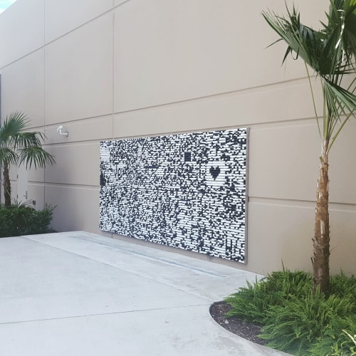 Public Sculptures by Leah Brown Art seen at The Frank C. Ortis Art Gallery and Exhibit Hall, Pembroke Pines - Pixel Twist