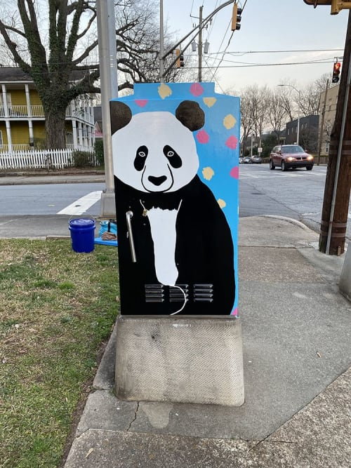 Street Murals by Elaine Stephenson Art & Design, LLC seen at 645 Grant St SE, Atlanta - Grant Park Power Box