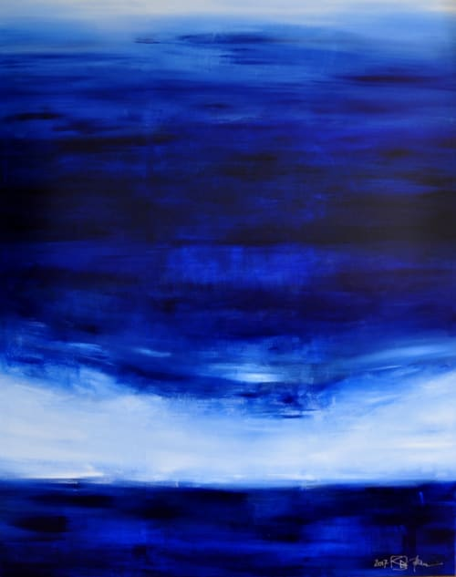 Paintings by CHRISTIAN BAHR seen at Private Residence, Heidelberg - UNTIL THE BLUE SKIES DRIVE THE DARK CLOUDS FAR AWAY