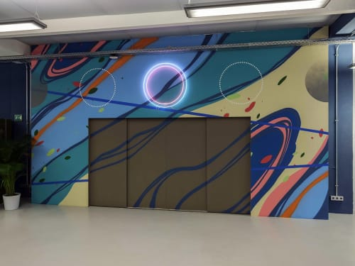 Murals by Erik Otto seen at Berlin, Berlin - Synthesis