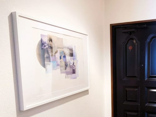 Art & Wall Decor by Linden Eller seen at Private Residence, Osaka - Living Near Water Hand Sewn Collage