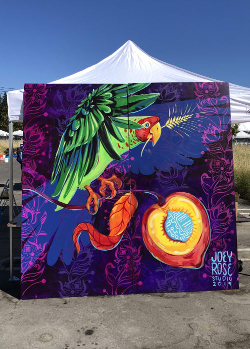 Street Murals by Joey Rose seen at Sunnyvale, Sunnyvale - THE SEED OF SILICON VALLEY