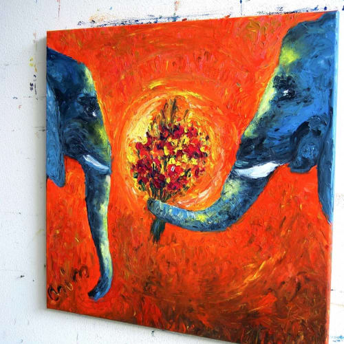 Paintings by Chiara Magni seen at Private Residence, Tel Aviv-Yafo - Roni&Tal