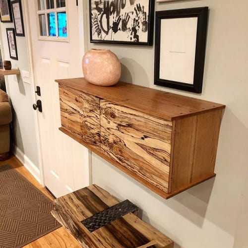Spalted wall cabinet   Wall Hangings by Mako Woods   Private Residence in Point Pleasant