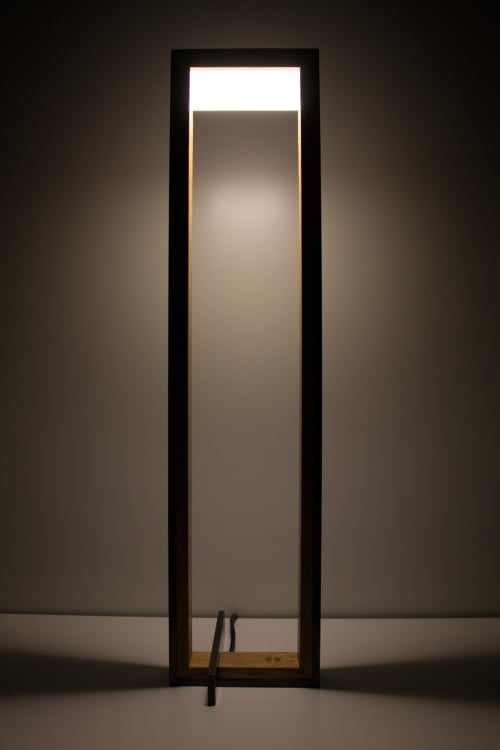 Lamps by Papay Designs seen at Private Residence, Encinitas - Wood & Steel WS4 Table Lamp