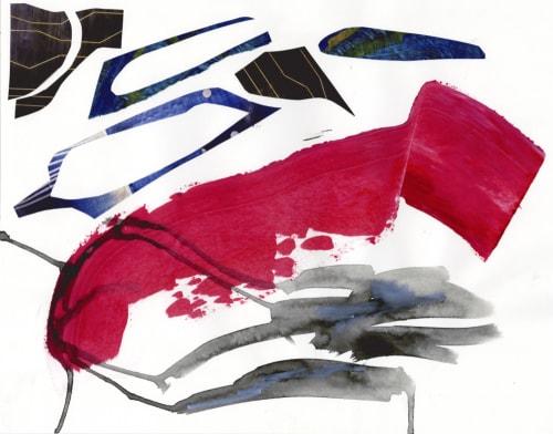 Paintings by K'era Morgan seen at Creator's Studio, Los Angeles - Peeling Back to Pink