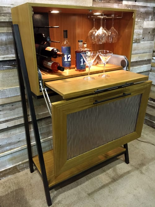 Furniture by Madera Furniture Company / Carlos Taylor-Swanson seen at Private Residence, Salt Lake City - Madera Mini Bar