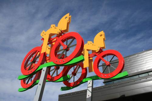 Public Sculptures by Jorge Blanco seen at Park City, Park City - AIR